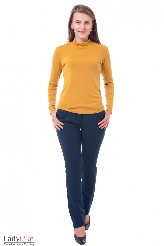 Купить брюки заужены синие Деловая женская одежда фото