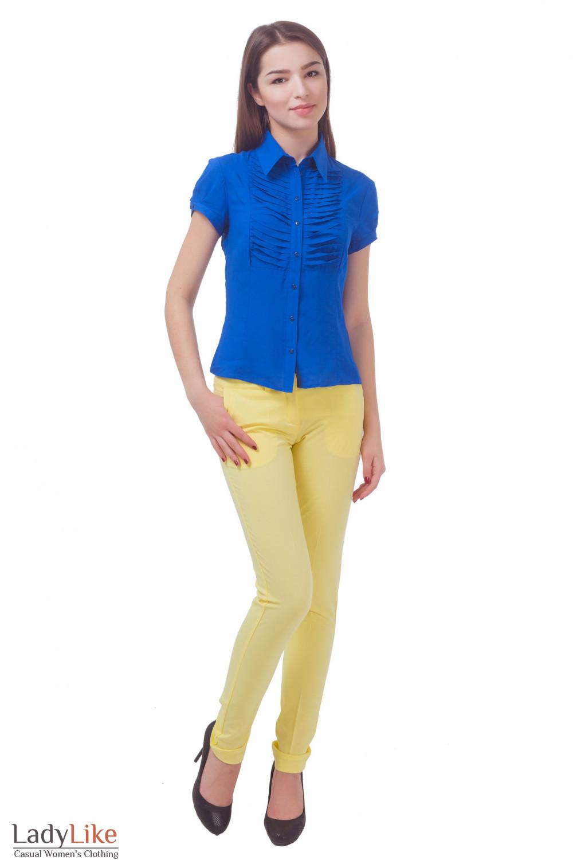 Купить брюки женские желтые с карманами Деловая женская одежда