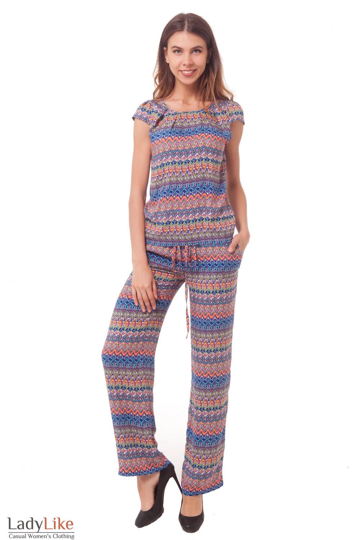Купить штапельный разноцветный костюм Деловая женская одежда