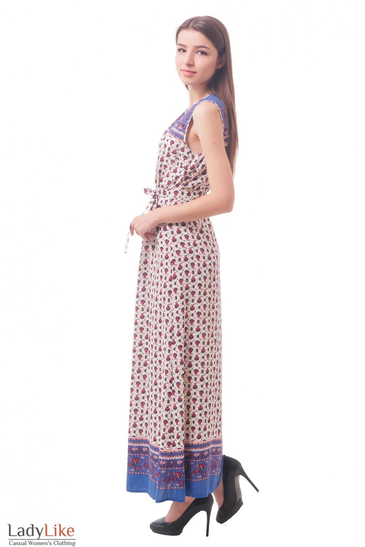 Купить длинное платье в бордовый цветок Деловая женская одежда
