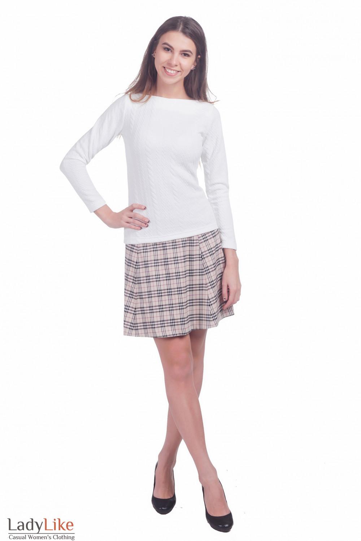 Фото Белый гольфик Деловая женская одежда