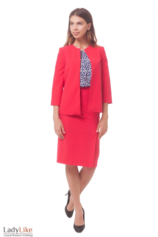 Купить коралловый женский костюм Деловая женская одежда