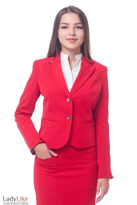 Красный Классический Женский Костюм С Доставкой