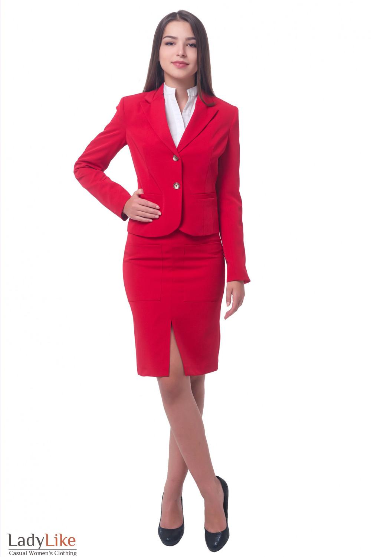 Купить красный женский жакет  Деловая женская одежда