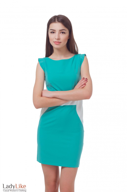 Купить бирюзовое платье Деловая женская одежда