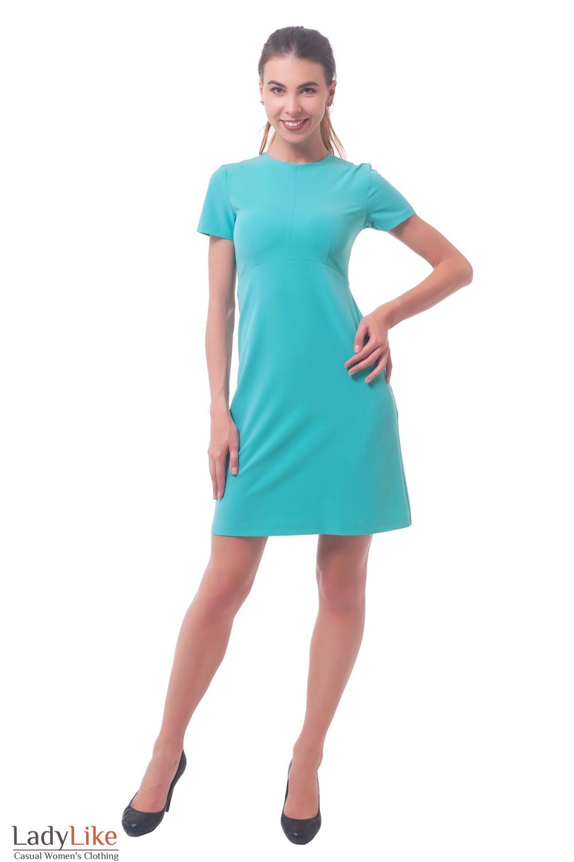 Купить платье бирюзовое Деловая женская одежда