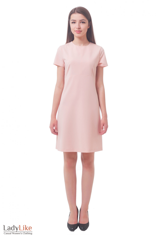 Купить платье бледно-розовое Деловая женская одежда