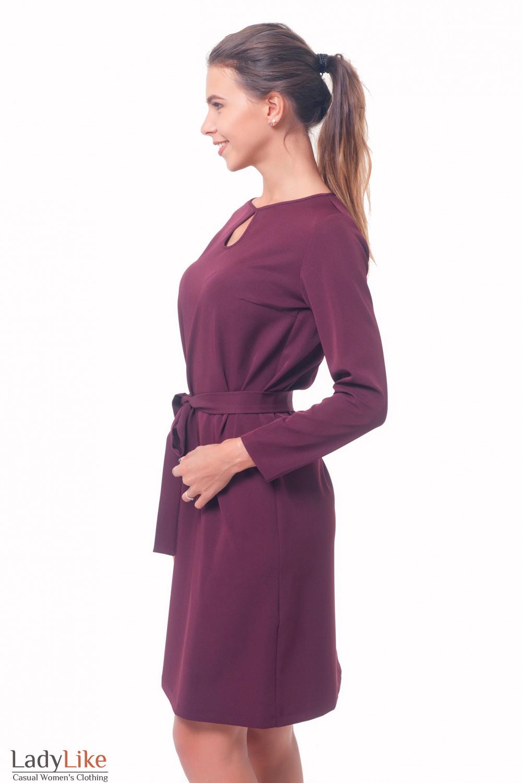 Купить платье бордовое с капелькой Деловая женская одежда