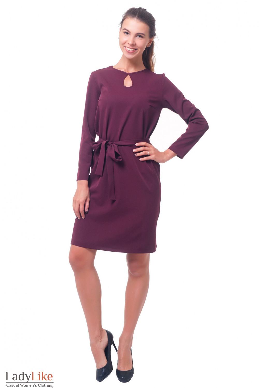 Купить платье бордовое Деловая женская одежда