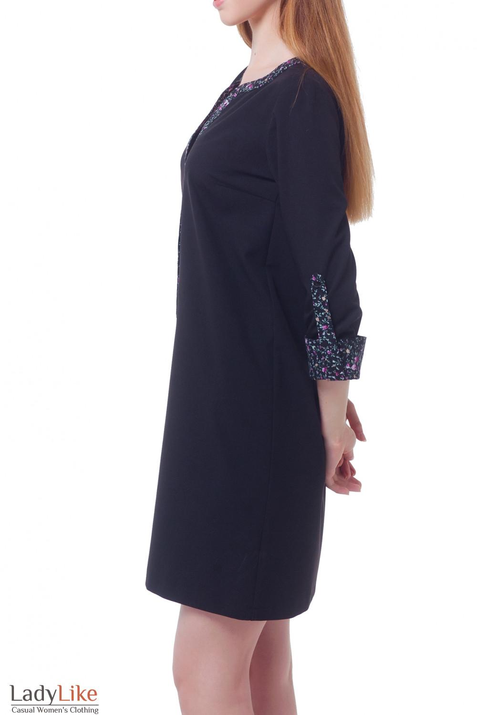 Купить платье с планкой в цветочек  Деловая женская одежда