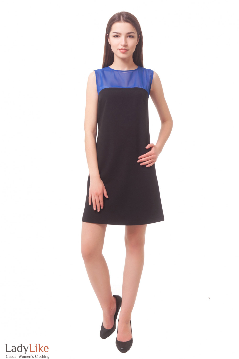 Buy dress with blue insert Business women's clothing