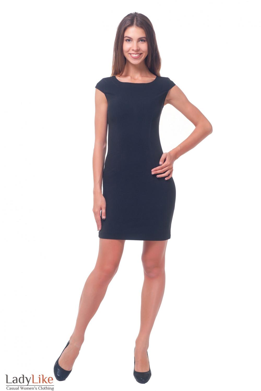 Купить платье черное строгое с рукавчиком Деловая женская одежда