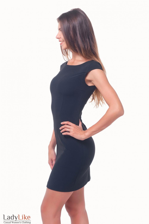 Купить платье черное с рукавчиком  Деловая женская одежда
