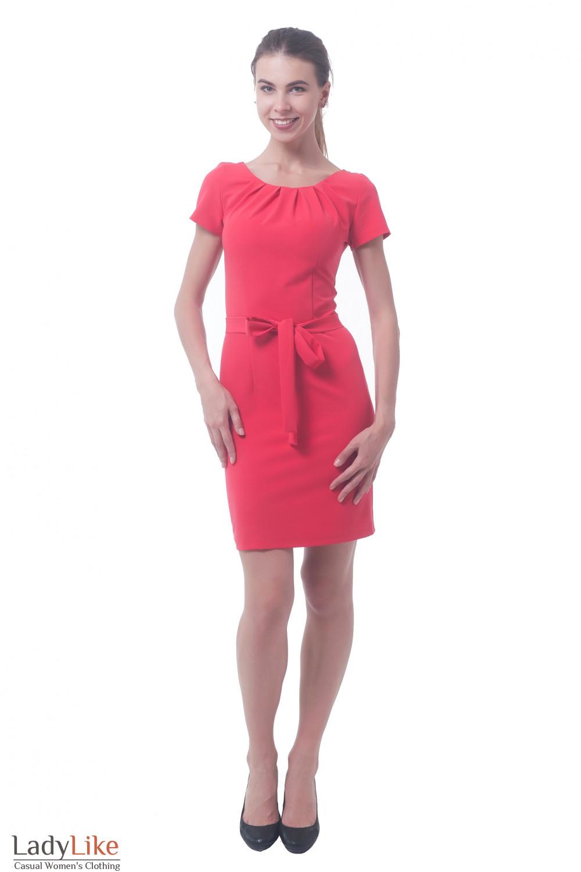 Купить платье коралловое Деловая женская одежда