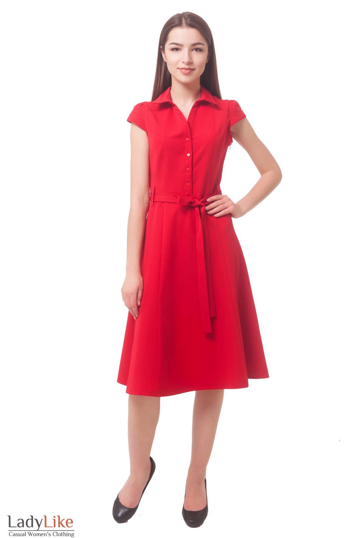Купить красное пышное платье Деловая женская одежда