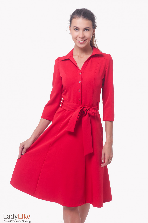 Платье красное такая деловая