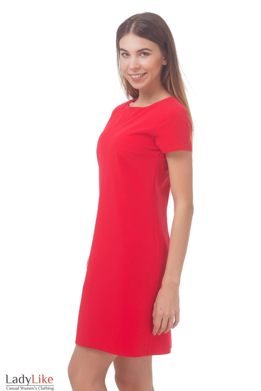Купить платье красное со встречной складкой Деловая женская одежда