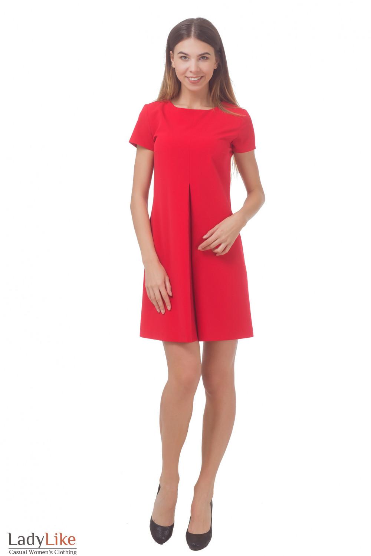Купить платье красное со складкой Деловая женская одежда