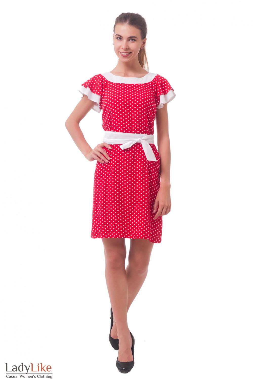 Купить платье красное в горошек  Деловая женская одежда