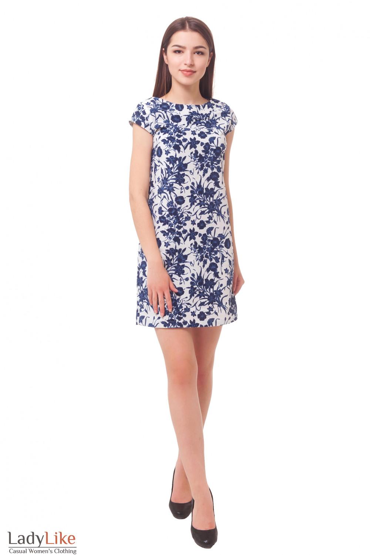 Купить платье льняное в цветы Деловая женская одежда