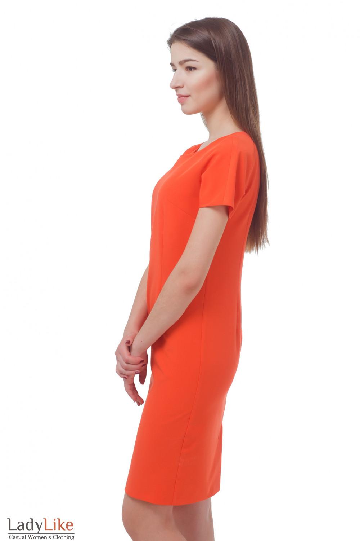 Купить платье оранжевое Деловая женская одежда