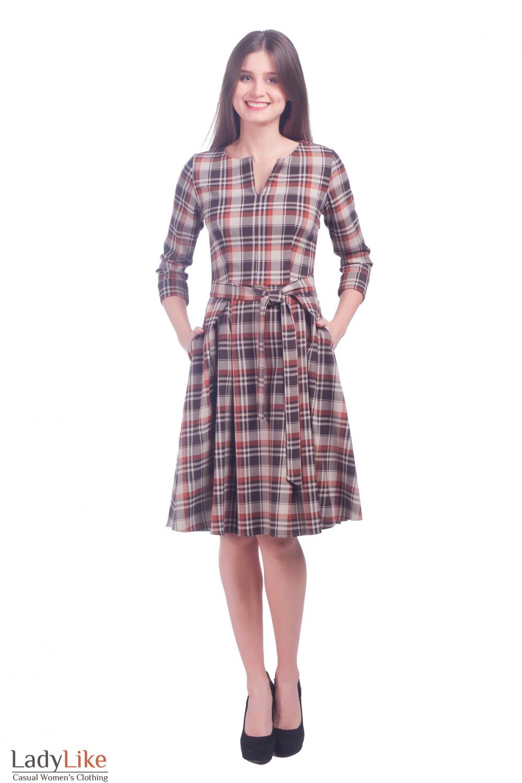Фото Платье с карманами Деловая женская одежда