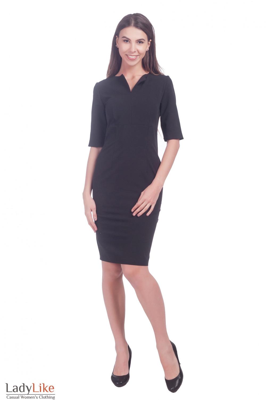 Фото Черное платье Деловая женская одежда