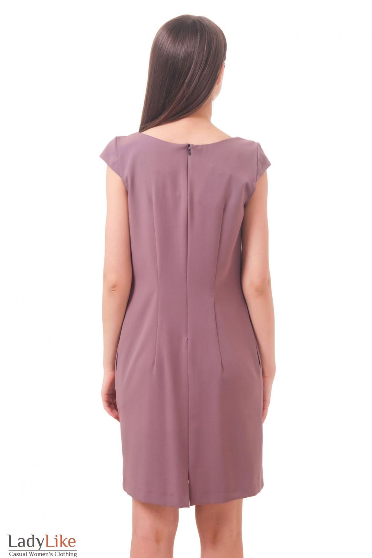 Фото Платье фиолетовое Деловая женская одежда