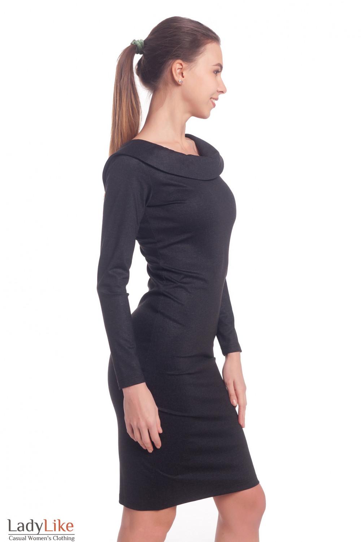 Купить платье серое с открытой спиной. Деловая женская одежда