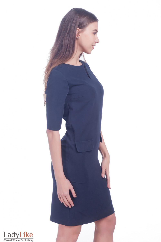 Фото Платье с разрезом по груди Деловая женская одежда
