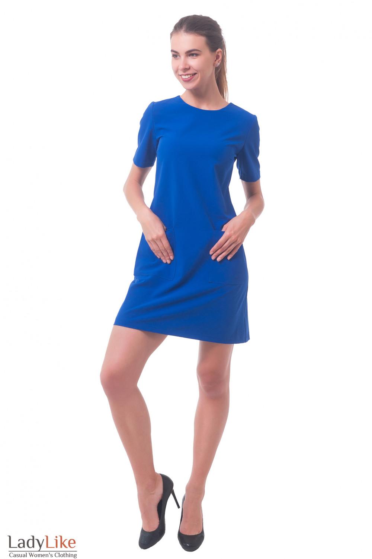 Купить платье с накладными карманами Деловая женская одежда