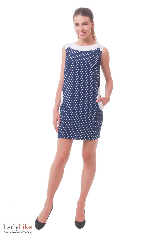 Купить платье в горошек с карманами  Деловая женская одежда