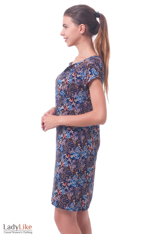 Купить платье в оранжевый цветочек Деловая женская одежда