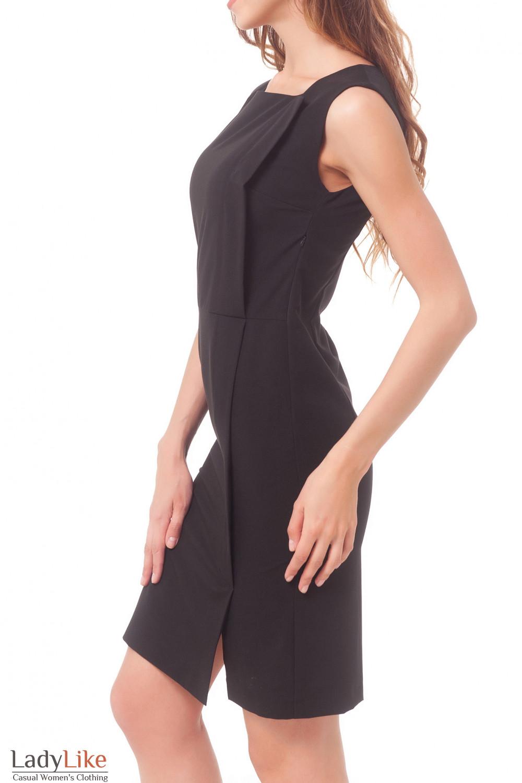 Купить сарафан черный с запахом Деловая женская одежда