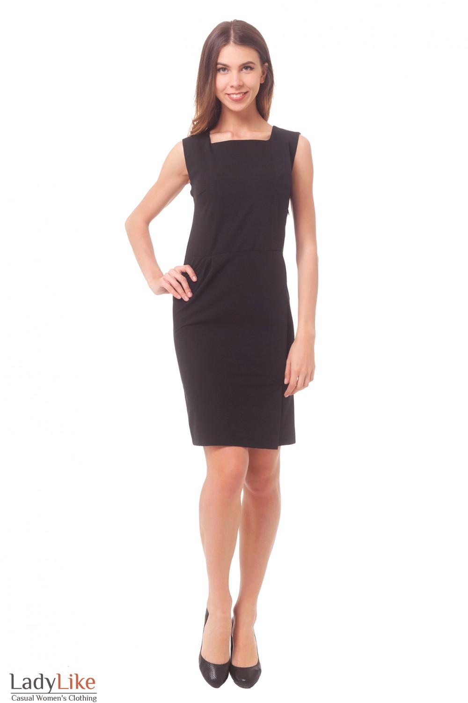 Купить сарафан деловой черный с запахом Деловая женская одежда