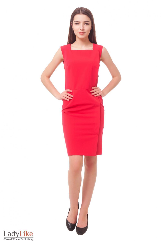 Купить сарафан коралловый Деловая женская одежда