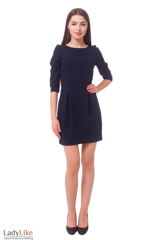 Купить синее платье с юбкой-тюльпаном Деловая женская одежда