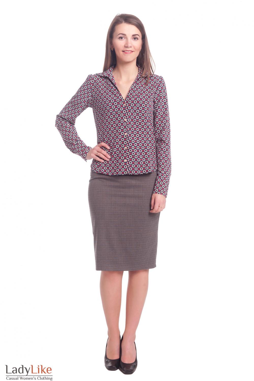 Купить теплую юбку коричневых оттенков Деловая женская одежда