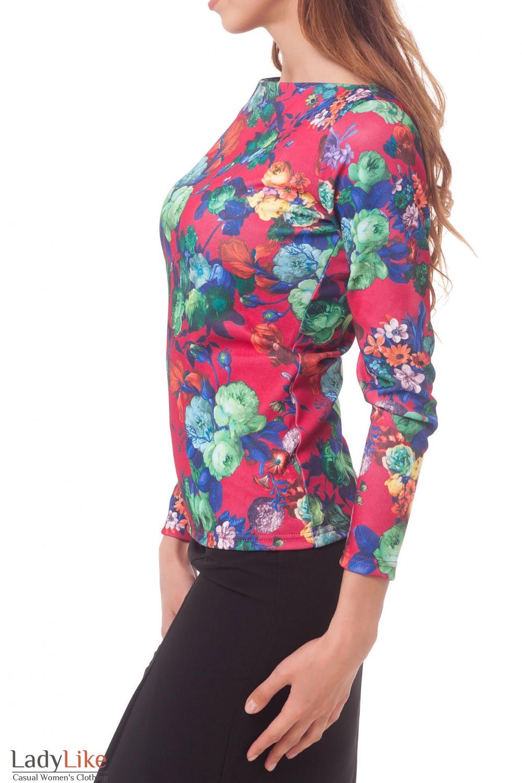 Купить тунику трикотажную в розы Деловая женская одежда