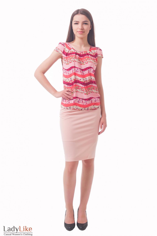 Купить бледно-розовую юбку Деловая женская одежда