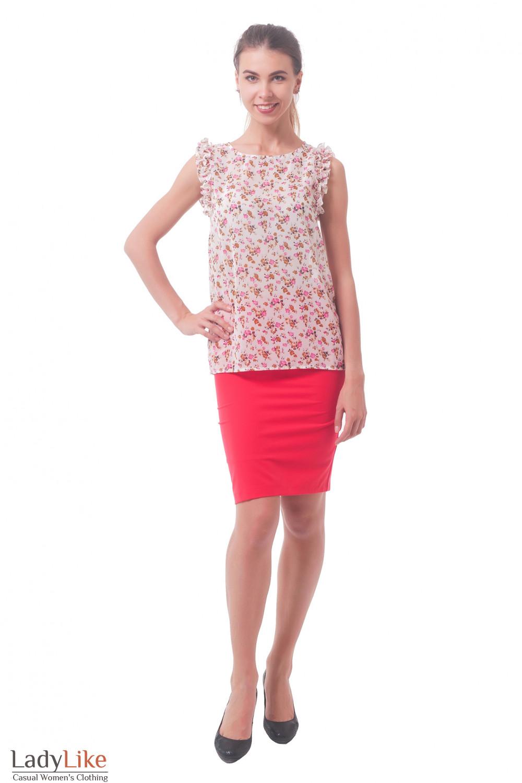 Купить юбку красного цвета Деловая женская одежда