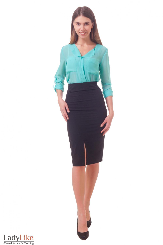 Фото Юбка с высокой талией Деловая женская одежда