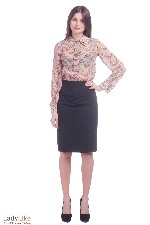 Фото Черная юбка Деловая женская одежда