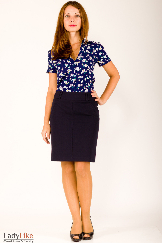 Фото Юбка темно-синяя Деловая женская одежда