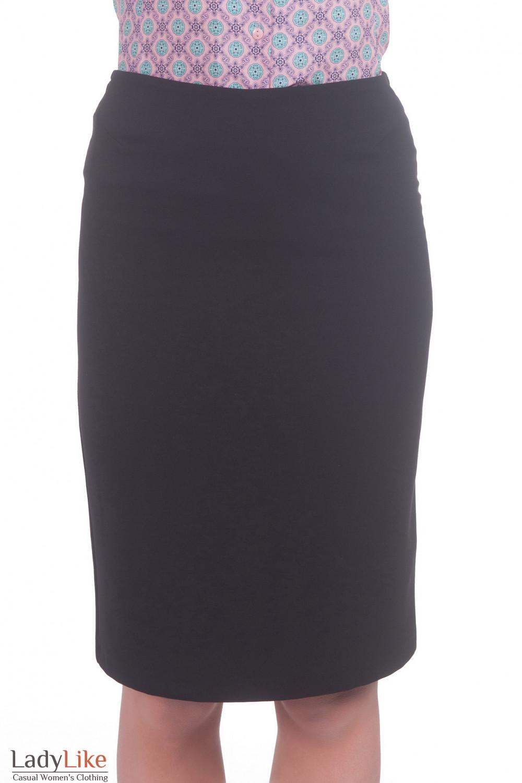 Фото Юбка теплая классическая черная Деловая женская одежда