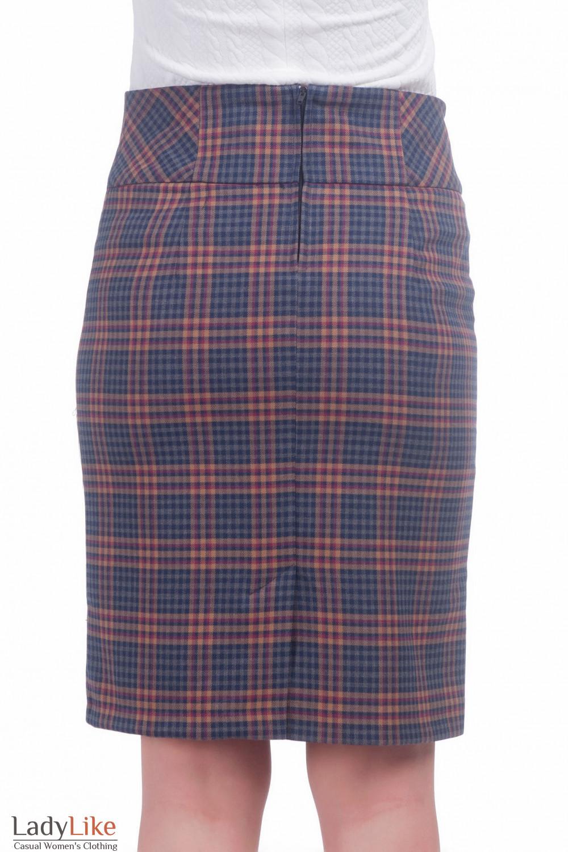 Фото Теплая юбка в клетку Деловая женская одежда