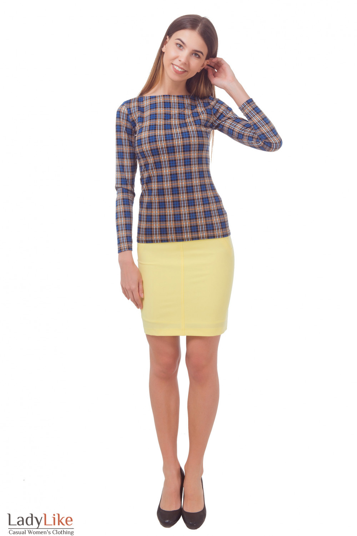 Купить юбку желтую с карманами Деловая женская одежда