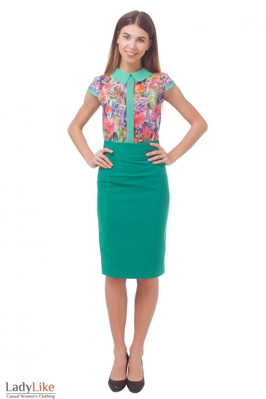 Купить зеленую юбку Деловая женская одежда