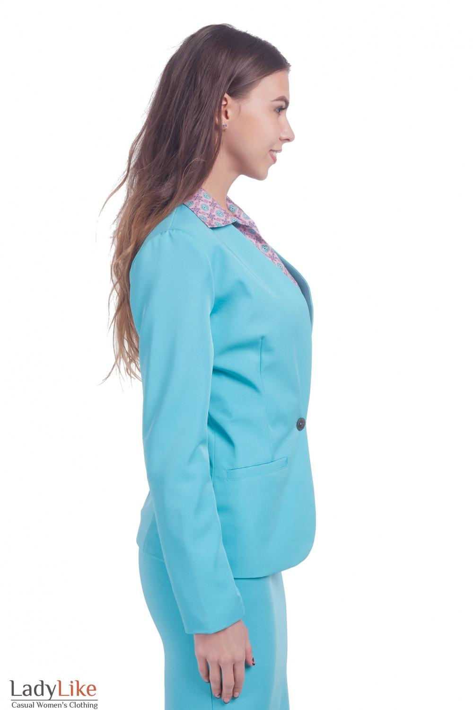 Фото Жакет удлиненный Деловая женская одежда