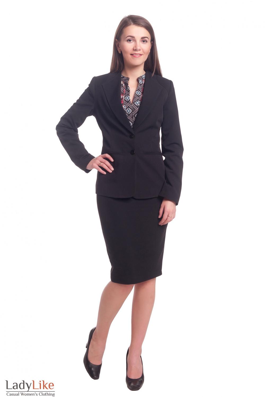 Купит черный женский костюм Деловая женская одежда